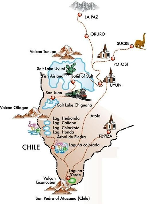 Bolivie-_Map_uyuni