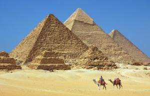 Désert blanc d' Égypte.