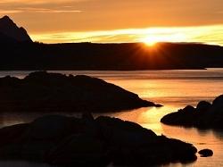 Coucher de soleil en Norvège