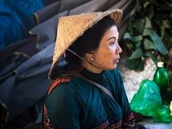 Vendeuse de Durian