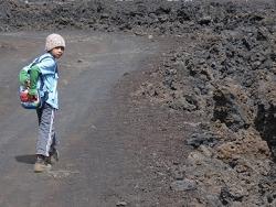 dans le volcan