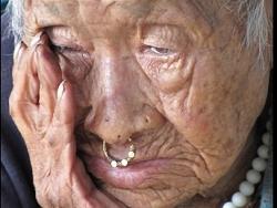 Vieille femme, Népal