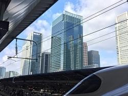 Le Shinkansen entre en gare de Tokyo