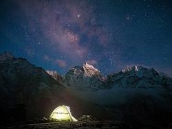Camp : Bivouac sous la voie lactée
