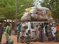 Déchargement d'un transport