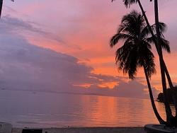 Coucher de soleil a San Vicente Philippines