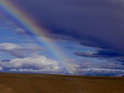 Arc en ciel en Mongolie