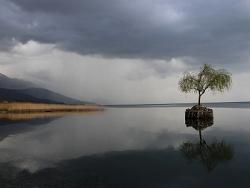 L'orage approche sur le lac d'Ohrid