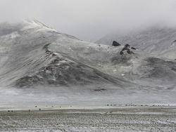 Première neige - kirghizistan